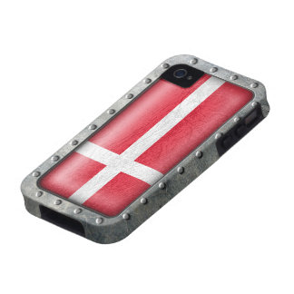 Bandera danesa industrial iPhone 4/4S carcasa
