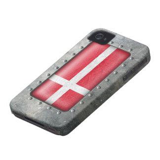 Bandera danesa industrial Case-Mate iPhone 4 cárcasa