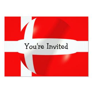 """Bandera danesa invitación 5"""" x 7"""""""