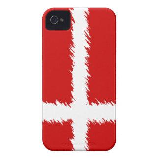 Bandera danesa iPhone 4 carcasa
