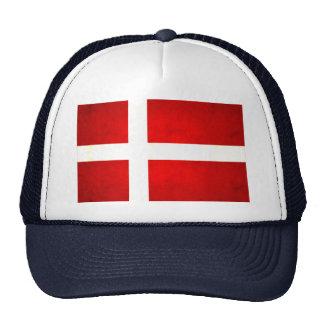 Bandera danesa nerviosa moderna gorra