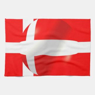 Bandera danesa toalla de mano