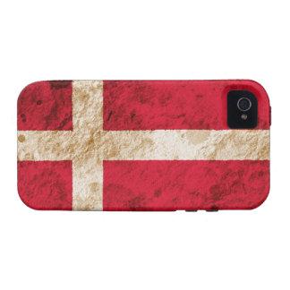 Bandera danesa rugosa iPhone 4/4S funda