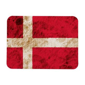 Bandera danesa rugosa imán