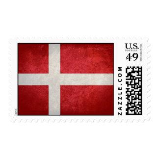 Bandera danesa sellos postales