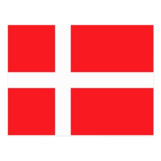 Bandera danesa tarjetas postales