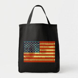 Bandera de 100 dólares bolsas de mano