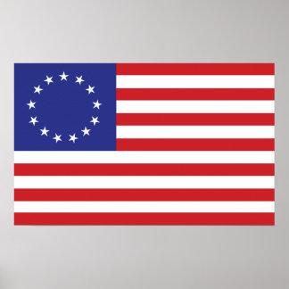 bandera de 13-Star los E.E.U.U. Póster