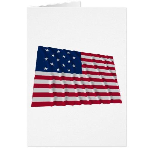 bandera de 15 estrellas felicitacion
