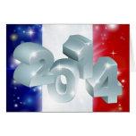 bandera de 2014 franceses felicitación