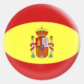 bandera de 20 pequeña de los pegatinas españoles pegatina redonda