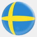 bandera de 20 pequeña de los pegatinas suecos de S