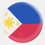 bandera de 20 pequeña Filipinas de los pegatinas Pegatinas Redondas