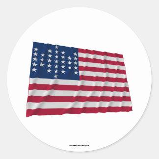 bandera de 33 estrellas, modelo de la guarnición pegatina redonda