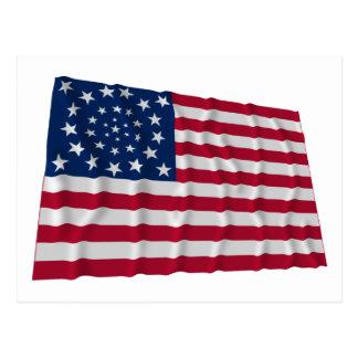 bandera de 34 estrellas, modelo de la guirnalda, postal