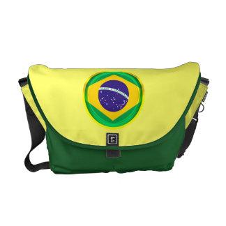bandera de 3D el Brasil Bolsas Messenger