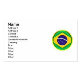 bandera de 3D el Brasil Tarjetas De Visita