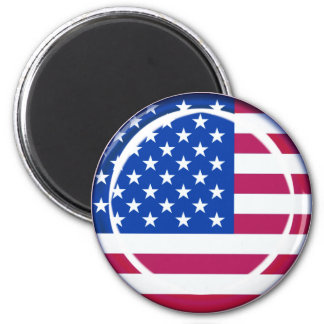 bandera de 3D los E.E.U.U. Imán Redondo 5 Cm