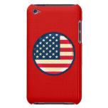 bandera de 3D los E.E.U.U. iPod Case-Mate Funda
