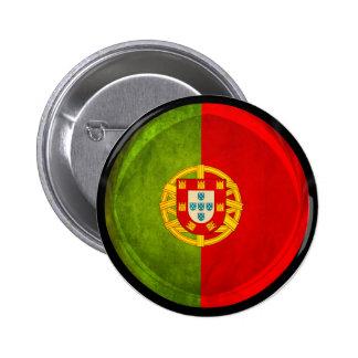 bandera de 3D Portugal Pin Redondo 5 Cm