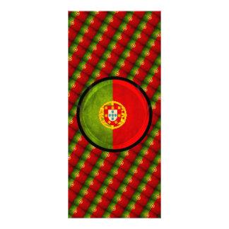 bandera de 3D Portugal Tarjetas Publicitarias Personalizadas