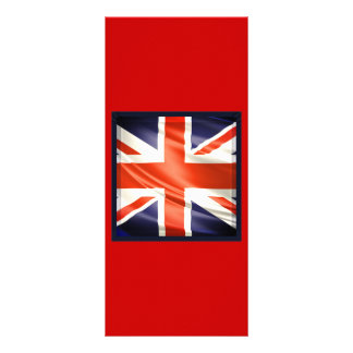 "bandera de 3D Reino Unido Folleto Publicitario 4"" X 9"""