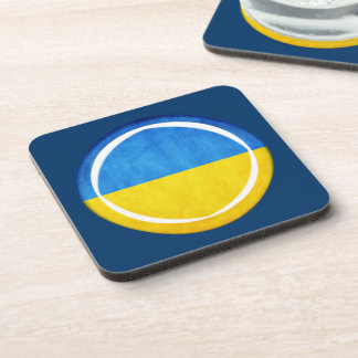 bandera de 3D Ucrania Posavasos De Bebida