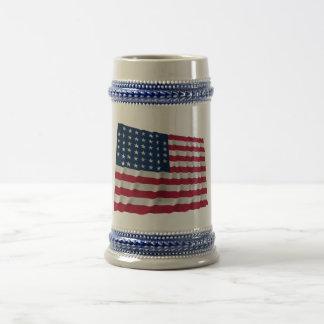 bandera de 44 estrellas, modelo cortado de las esq jarra de cerveza