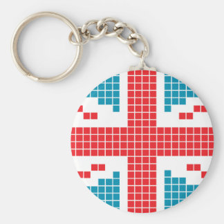 bandera de 8 bits de Union Jack Británicos Reino Llaveros
