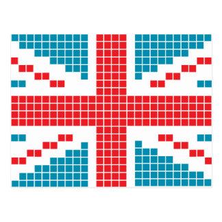bandera de 8 bits de Union Jack Británicos Reino Postales