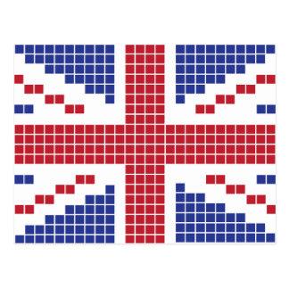 bandera de 8 bits de Union Jack Británicos Reino Postal