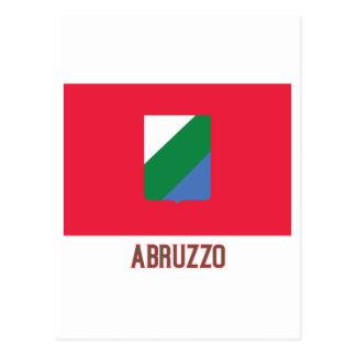 Bandera de Abruzos con nombre Tarjeta Postal