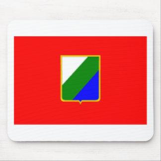 Bandera de Abruzos Italia Tapete De Ratones