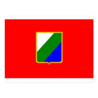 Bandera de Abruzos (Italia) Tarjeta Postal