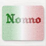 Bandera de abuelo italiana Mousepad de Nonno Alfombrillas De Ratón