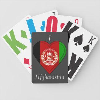 Bandera de Afganistán Baraja Cartas De Poker