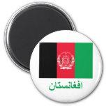Bandera de Afganistán con nombre en Pashto Imán De Frigorífico
