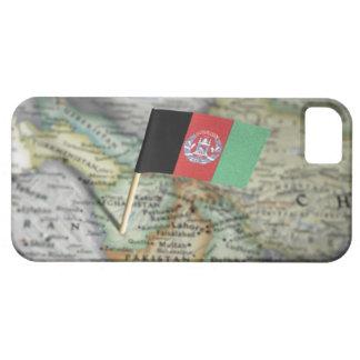 Bandera de Afganistán en mapa iPhone 5 Carcasa