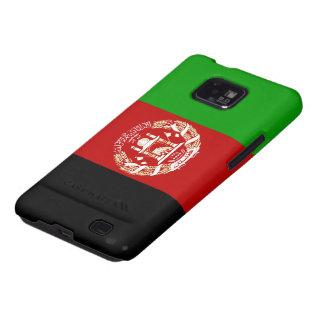 Bandera de Afganistán Samsung Galaxy S2 Carcasas