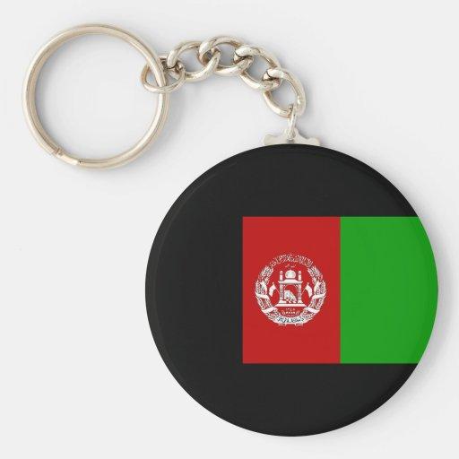 Bandera de Afganistán Llavero Redondo Tipo Pin
