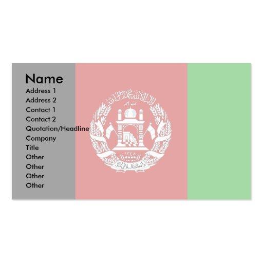 Bandera de Afganistán Tarjeta De Visita