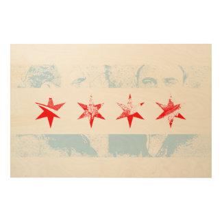 Bandera de Al Capone Chicago Cuadro De Madera