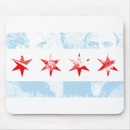 Bandera de Al Capone Chicago Tapete De Raton
