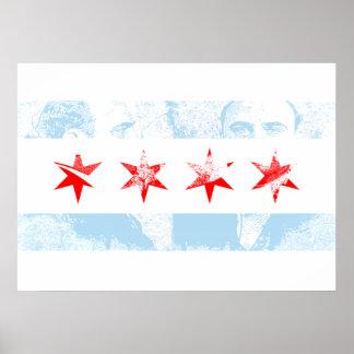 Bandera de Al Capone del vintage de Chicago Póster