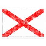 Bandera de Alabama (apenada) Tarjetas Postales