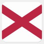 Bandera de Alabama Calcomanías Cuadradases