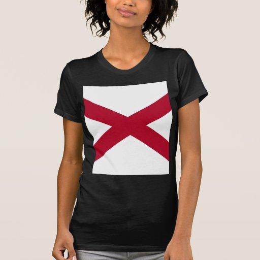 Bandera de Alabama Camisetas