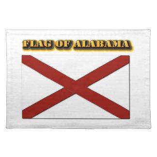 Bandera de Alabama Manteles Individuales