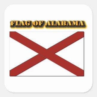 Bandera de Alabama Pegatina Cuadrada