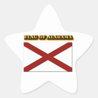 Bandera de Alabama Pegatina En Forma De Estrella